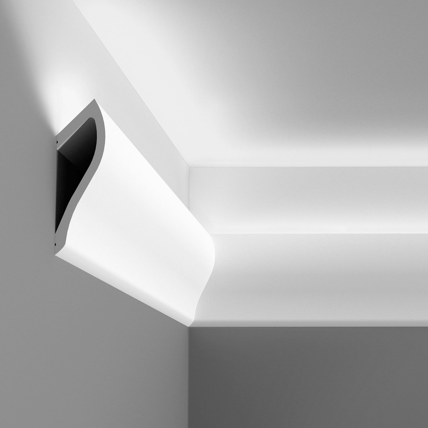 Crown Moulding for Indirect Lighting LED Cornice Lighting