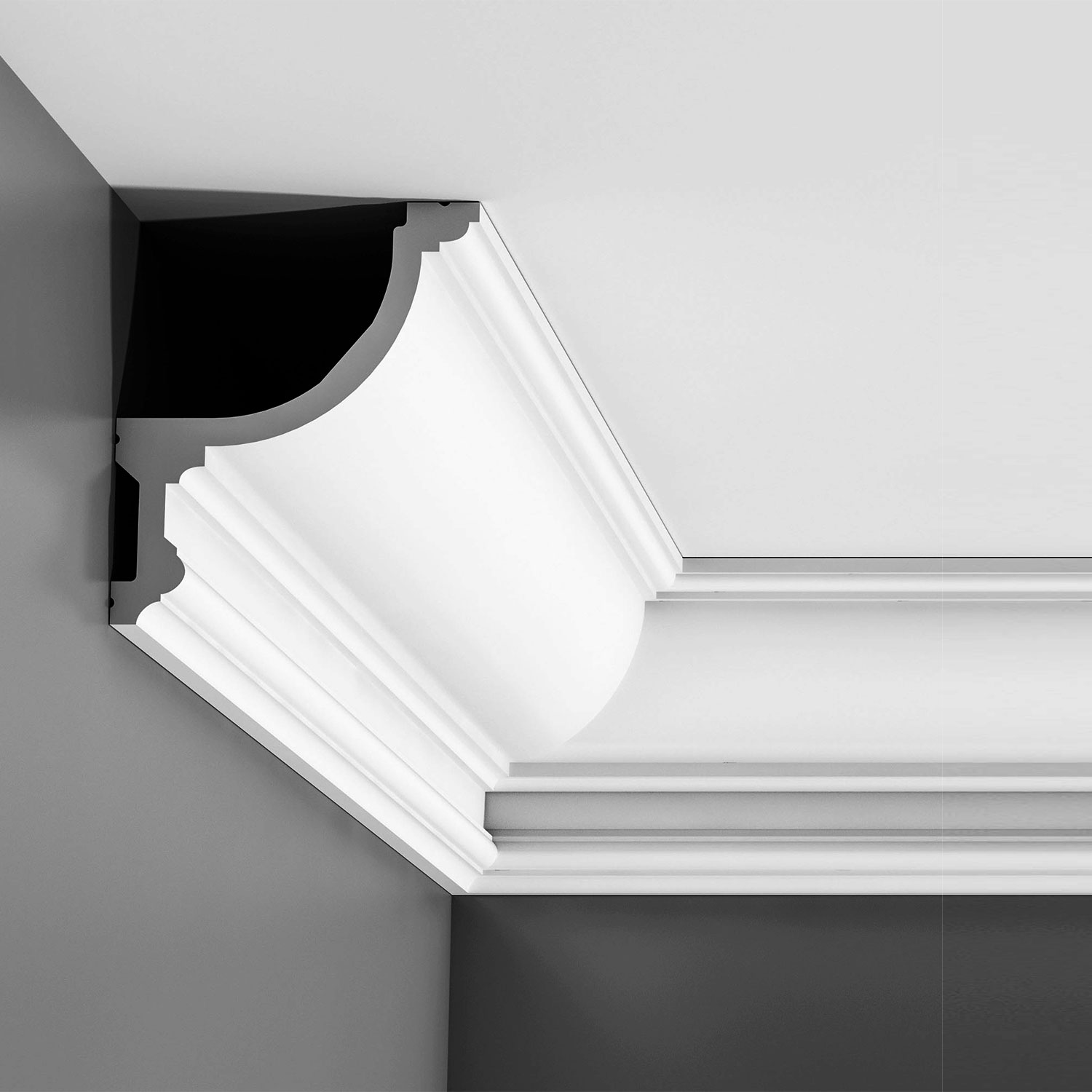 Crown moulding for indirect lighting led cornice lighting - Ikea iluminacion led ...