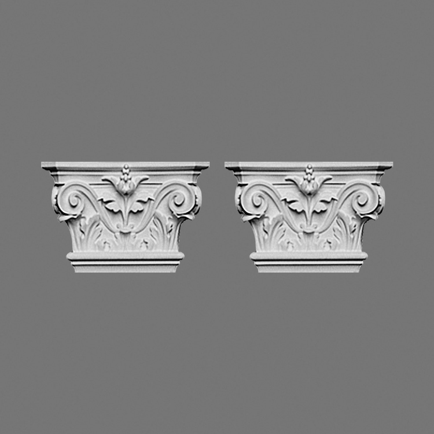 Pair of Capitals for Pilaster