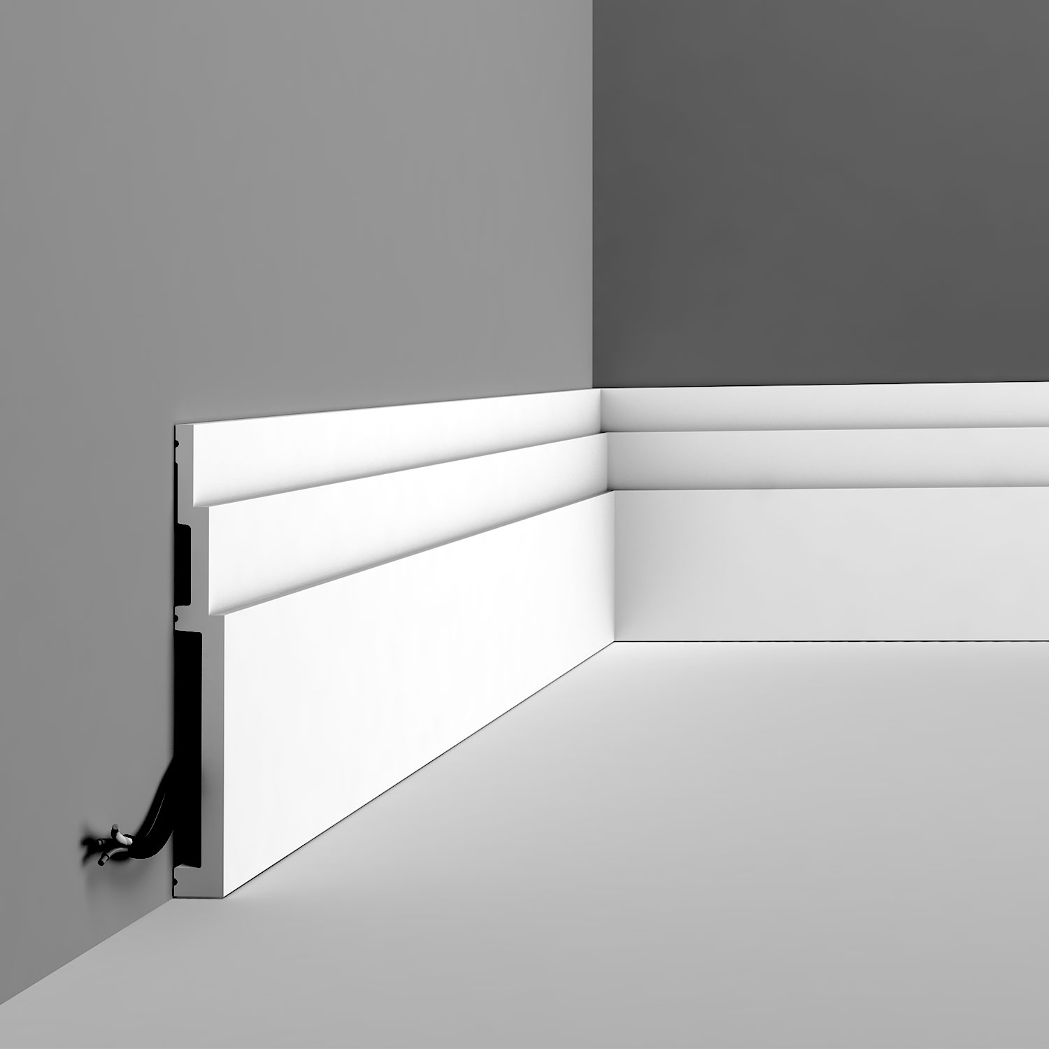 Modern collection the newest baseboard mouldings from orac Modern floor molding