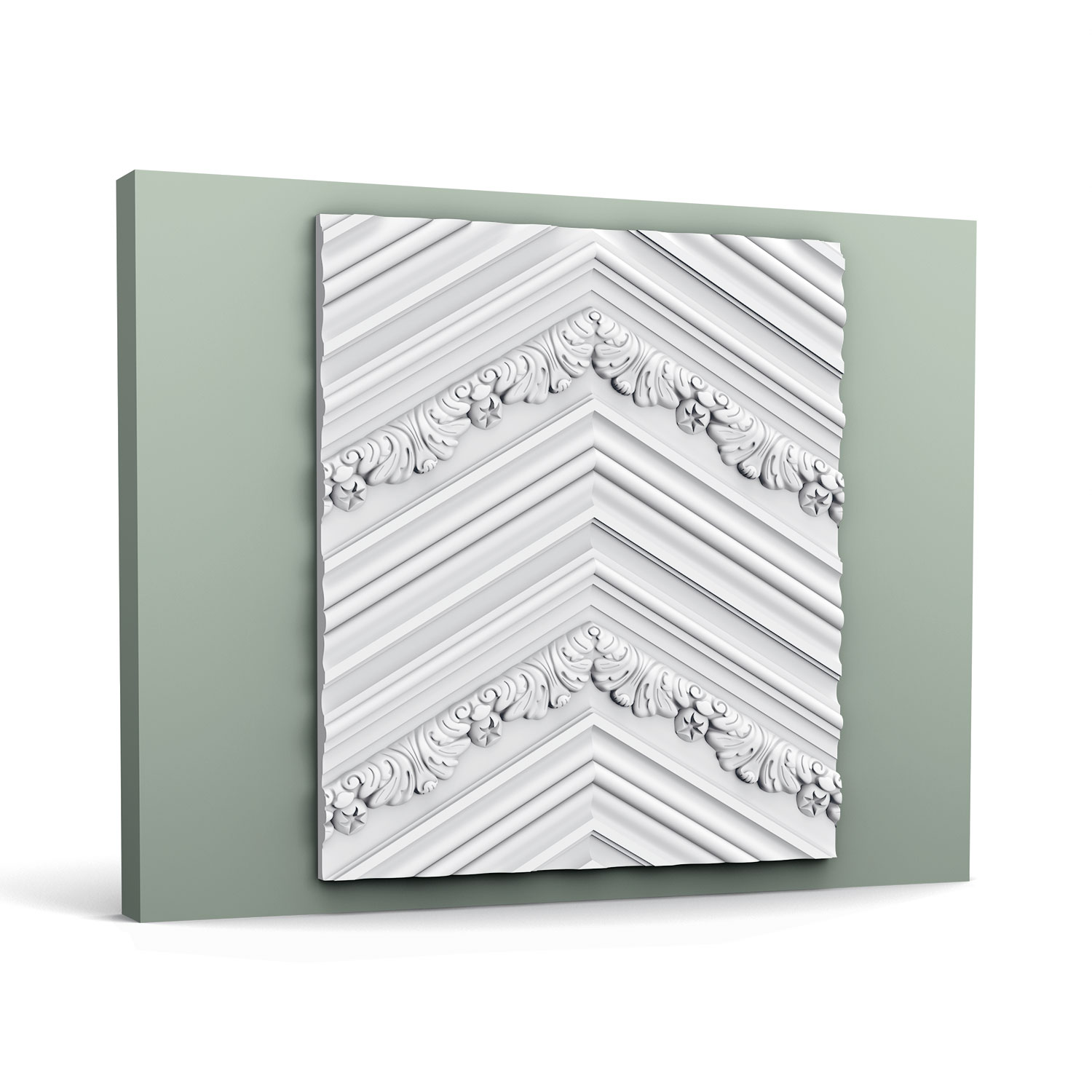 3D Chevron Wall Panel